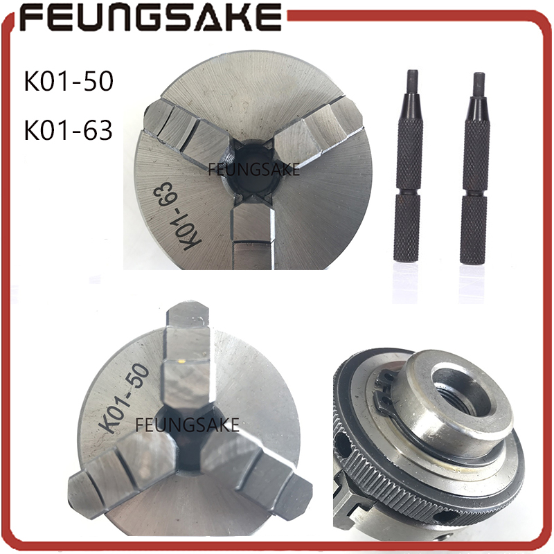 k02-50mm k02-63mm Manual Lathe Chuck K01-50mm k01-63mm Mini 3 Jaws Chuck 14*1 Self-centering Clamping Hardened Steel lathe chuck автомагнитола k01 k02 k07 k17 k27 k05 k06 cd dvd