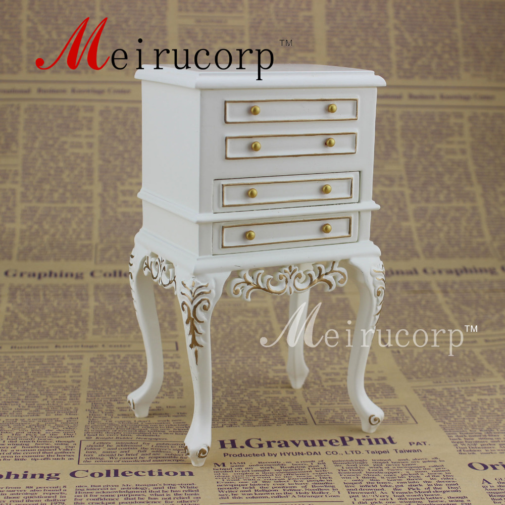 1:6 scale doll miniature furniture fine Handmade gilt Drawer cabinet ...