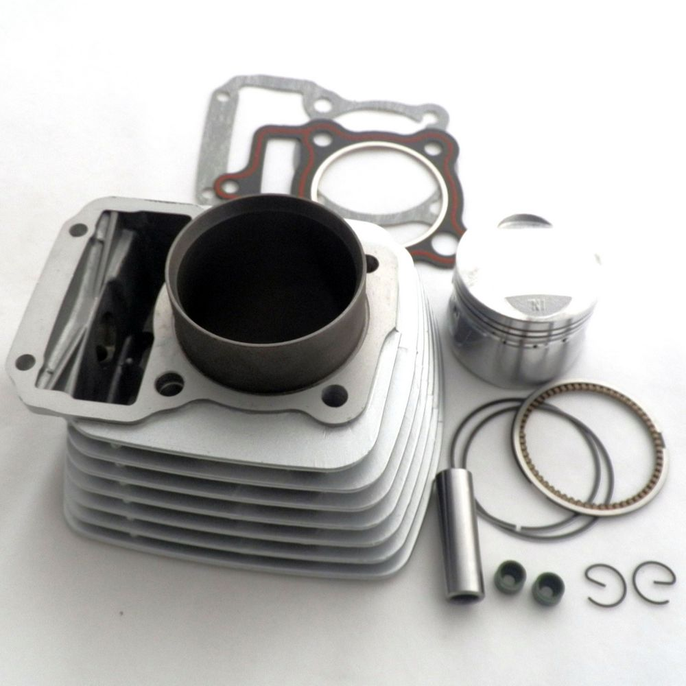 ZHUANGQIAO 150cc Cylinder Big Bore <font><b>62mm</b></font> <font><b>Piston</b></font> for Chinese Scooter ATV Moped Dirt Bike Motorcycle CG125 125cc 156FM1 YAMASAKI image