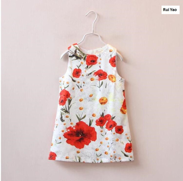 7db8c21a078c6 Y30990640 2017 Summer Dress Baby Girl Dress Floral Sleeveless Girl Princess  Dress Party Girls Clothes Lolita Kids Clothes-in Dresses from Mother & ...