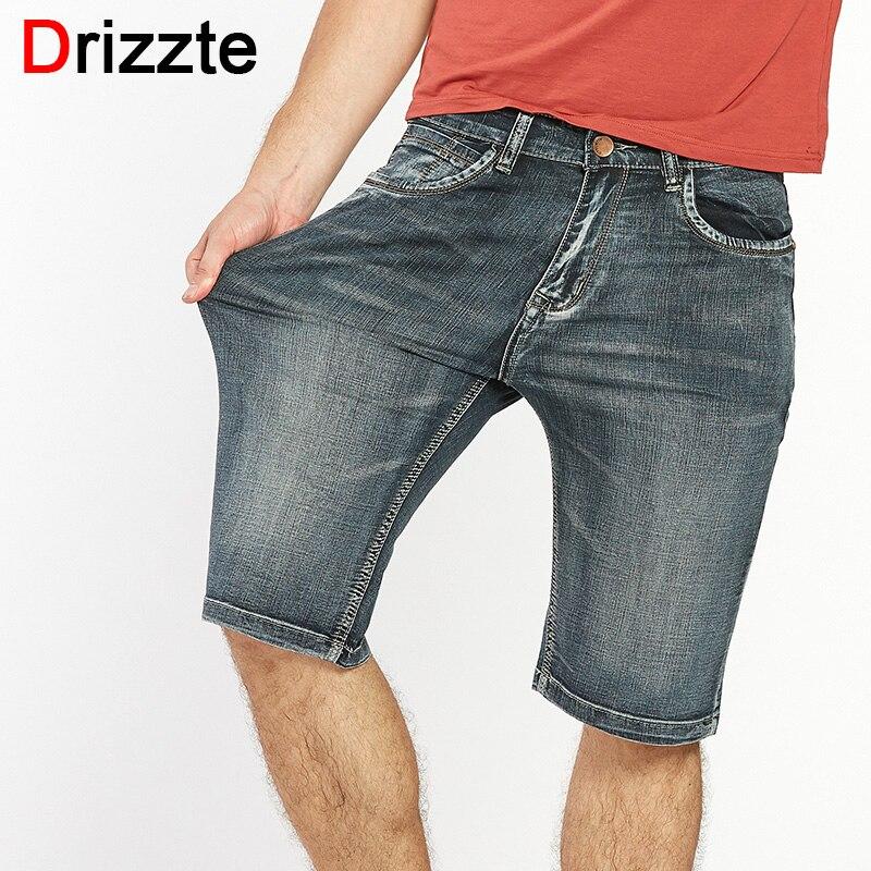 Drizzte Marque Mens Léger Denim Jeans Shorts Plus La Taille Jeans court pour Hommes Pantalon D'été 34 35 36 38 40 42