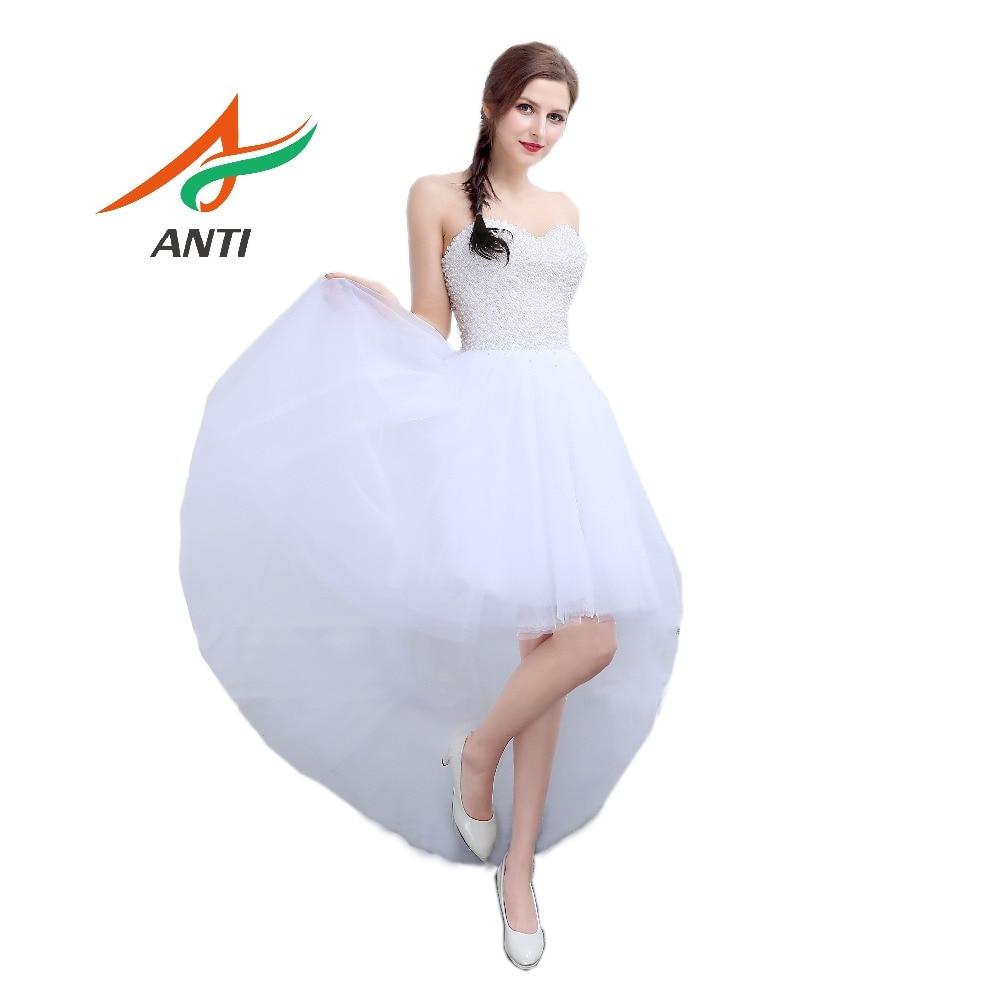 ANTI Luxury 2017 A-Line vestido de novia Louisvuigon Full Pearls - Vestidos de novia