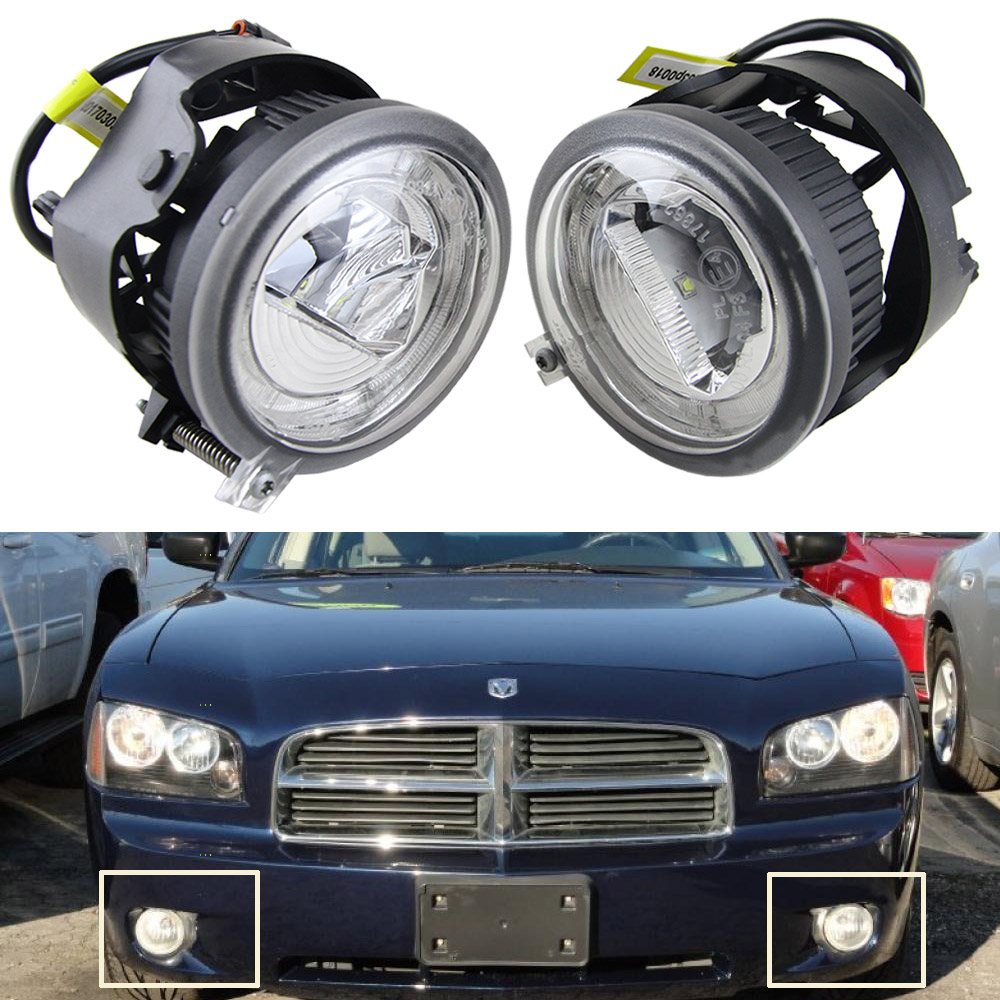 12V 100% Waterproof OE Replace Daylight Guide Led Fog Drl Daytime light for Chrysler Pacifica 05-07 Dodge Avenger Caravan Nitro 12v 100% waterproof oe replace daylight guide led fog drl daytime light for chrysler pacifica 05 07 dodge avenger caravan nitro