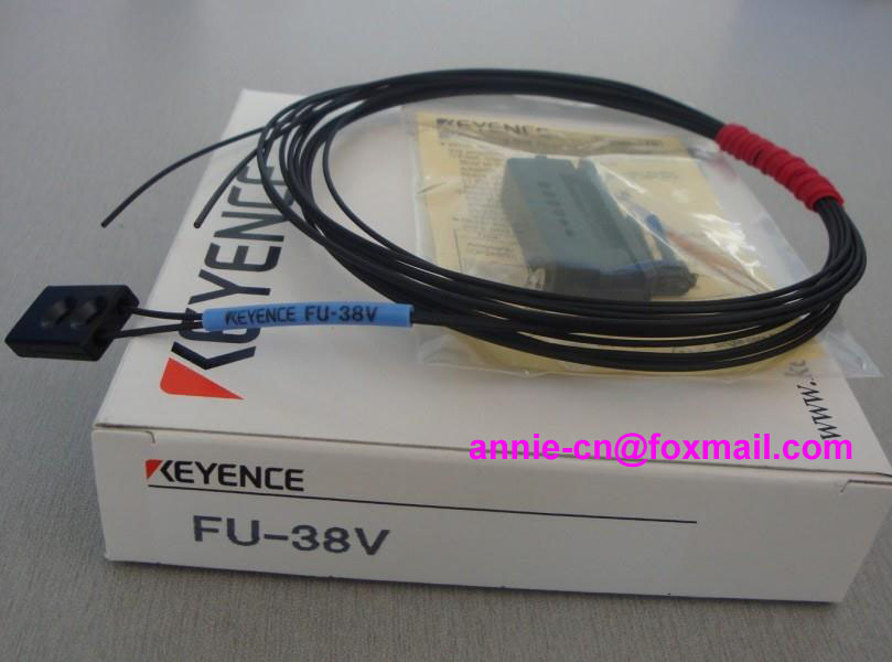 FU-38V  KEYENCE  Optical fiber sensor dhl ems 2 lots new keyence fu 34 transmissive fiber optic sensor switch