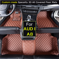 For AUDI A8 2005~2010 Car Floor mats Car styling Foot Rugs Custom Car Floor Carpets 3D All covered Waterproof Black Brown Beige