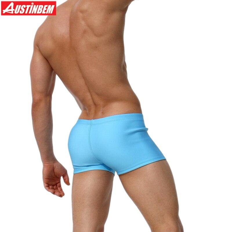 AUSTINBEM yeni mavi qəhvə bandaj üzgüçülük kişi Shorts - İdman geyimləri və aksesuarları - Fotoqrafiya 4