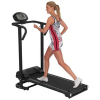 TTCZ 2018 New Household Foldable Mechanical Treadmill With LCD Display Low Noise Walking Machine Home Trainer Fitness Equipment