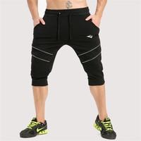 2017 New Brand Mens Shorts Summer Gyms Mens Shorts Cotton Shorts Elastic Waist Shorts Fitness Recreational