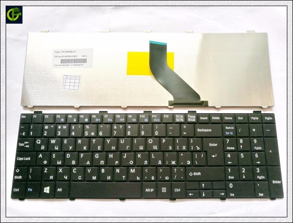 Russian Keyboard for Fujitsu Lifebook A530 A531 AH530 AH531 NH751 RU Black russian keyboard keys letters sticker black