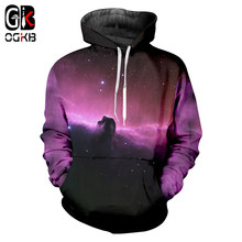 OGKB 3D Printing Women's Hoodie Sweatshirts Galaxy Space Hooded Hoody Lovers Jumpers Hiphop Streetwear Pullovers Hombre 6xl(China)