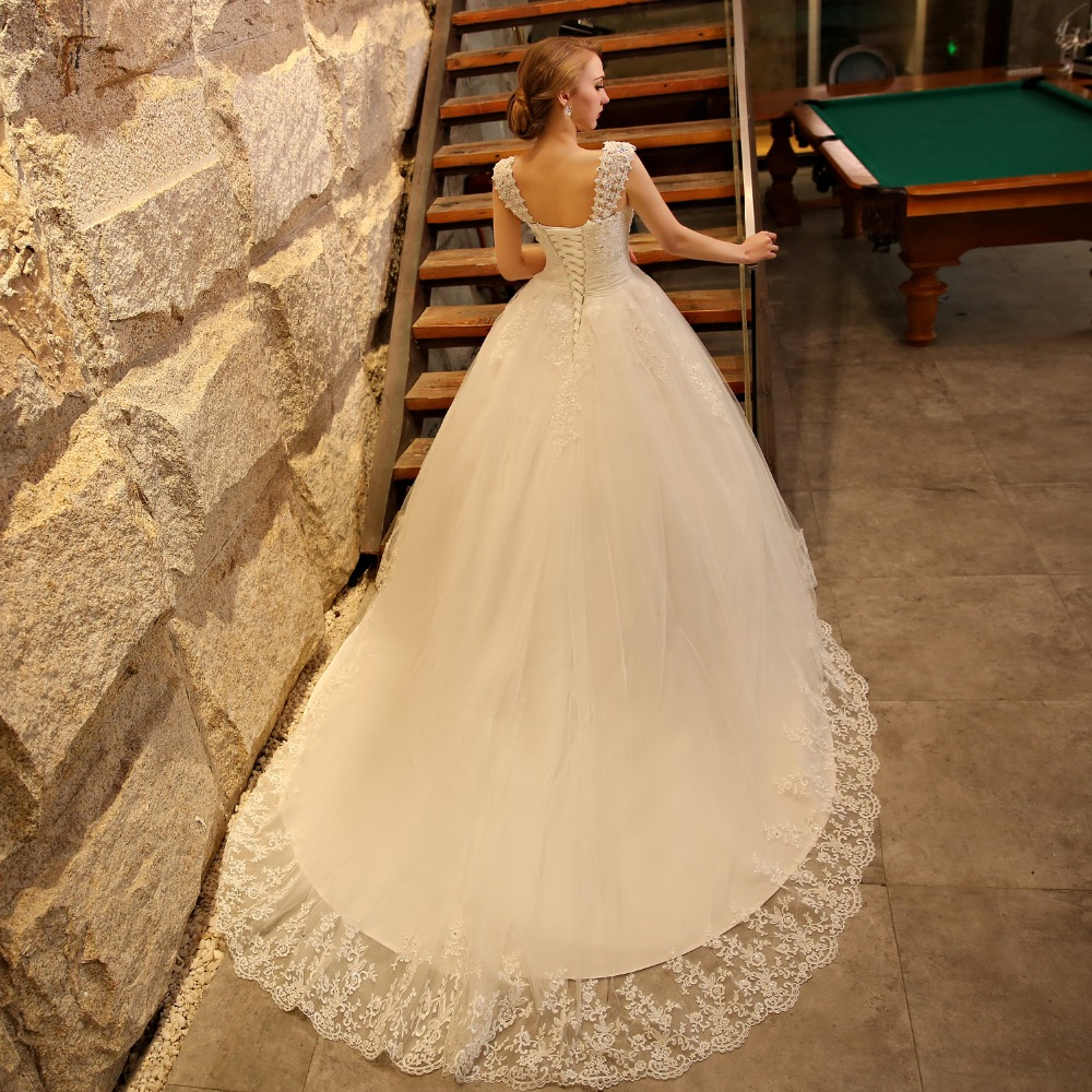 ball gown wedding dress with cathedral train with bling high quality ...