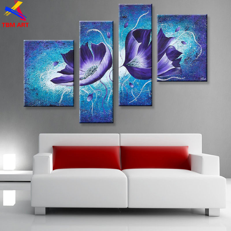 Purple Calla Lily Canvas Painting Picture Wall Art Home Decoration Hand painted Modern Abstract Oil Painting on Canvas TH155-in Painting u0026 Calligraphy from ... & Purple Calla Lily Canvas Painting Picture Wall Art Home Decoration ...