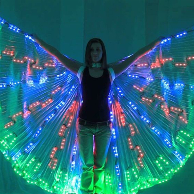 LED belly dancing lsis wings dj wing girls dance costumes light up ...