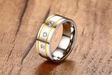 Модные хрустальные aaa кубические циркониевые кольца для мужчин