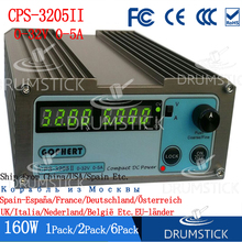 Sabit Gophert CPS 3205II 160W Mini dijital DC güç kaynağı CPS 3205 ayarlanabilir 0 30V 5V 12V 15V 24V 0 5A kilitlenebilir 110 V/220 V