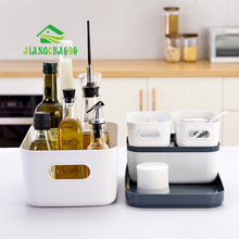 JiangChaoBo Kitchen Desktop Storage Boxes Cabinets Cutlery Covered Plastic Cosmetics Finishing