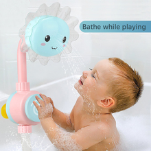 Hot Sale Baby Bath Toys Sunflower Kids Water Shower Toy Spray Tools Bathtub Fountain Plaything For Child Swimming Pool Bathroom
