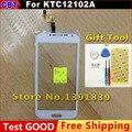 Китайский имитация андроид телефон GT I9500 Сенсорный экран числа KTC12102A Сенсорным Экраном дигитайзер Белый + Инструмент + Бесплатная Доставка