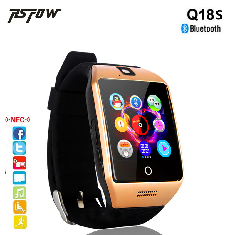RsFow Q18S Passometer Smart Watch with Touch Screen camera Sim TF card NFC Bluetooth Smartwatch For