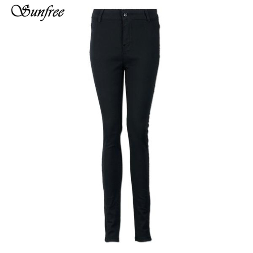 Sunfree 2016 New Women Pencil Stretch Casual Denim Skinny Jeans Pants High Waist Trousers Brand New