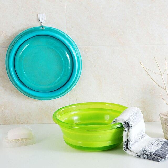 Home Office Storage Of Folding Thickened Washbasin Household Plastic Laundry Tub Travel Portable Large