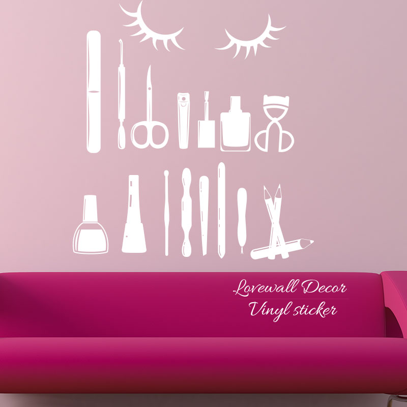 nail art design tools wall sticker manicure polish varnish. Black Bedroom Furniture Sets. Home Design Ideas