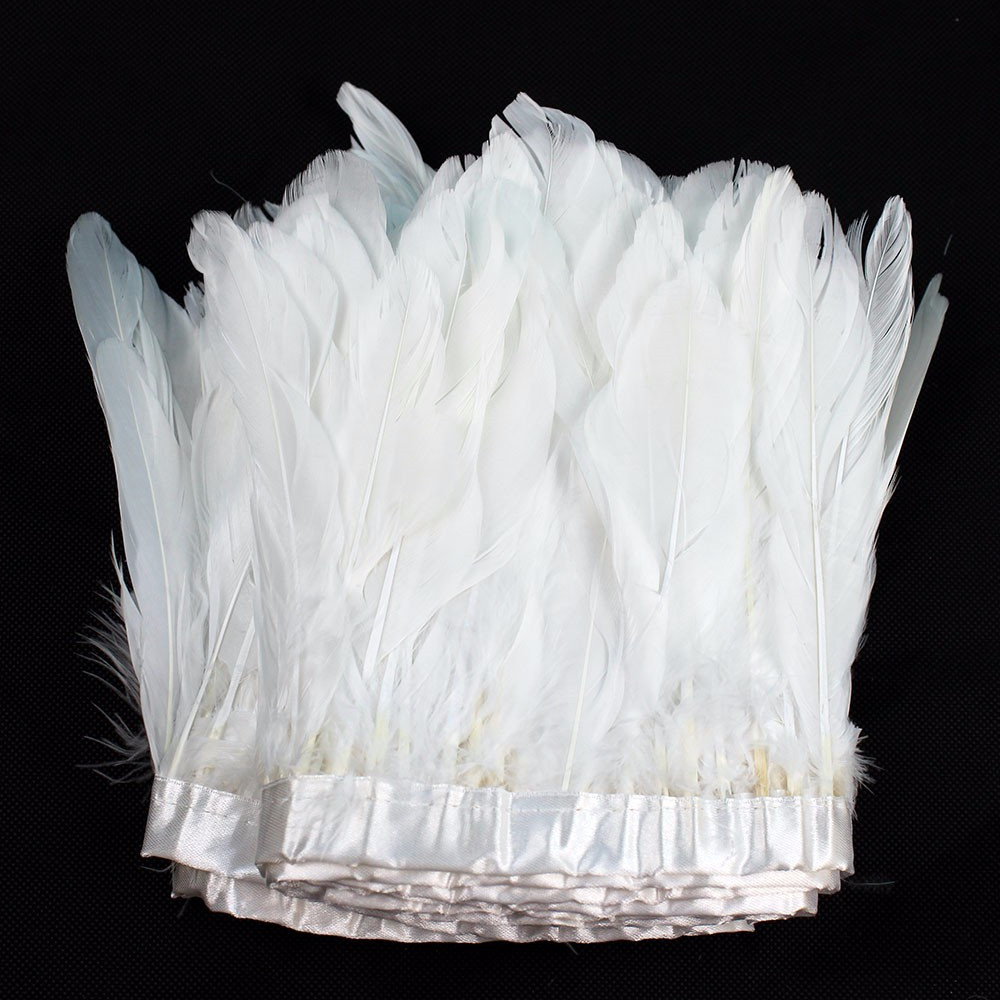 White craft feathers bulk - 15 20cm White Feather Trim Goose Feathers Trimming Feather Fringe 2 Meter Lot Dress Cloths Making Craft