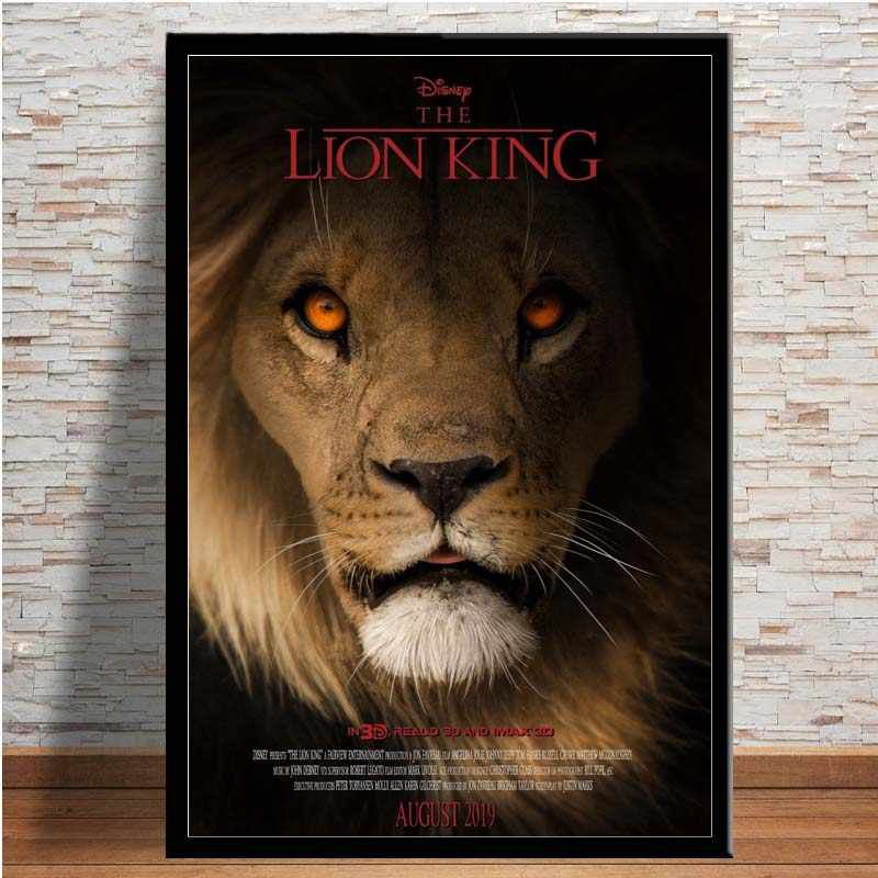 Mx059 The Lion King Hot 2019 Large Movie Poster Art Silk Light Canvas Painting Wall Art Picture Print By Home Room Decoration