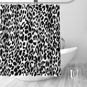 Image 2 - Big Sale New Custom Leopard Modern Shower Curtain with Hooks bathroom Waterproof Polyester Fabric