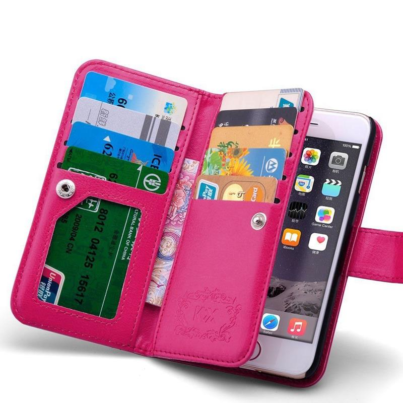 I6 6S For Iphone6S Wallet Bags Convenient Leather Flip Case For Iphone 6 6S 4.7 Hard Back Cover Card Cash Slot Clear Photo Frame
