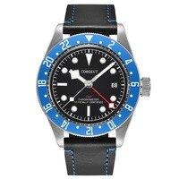 41mm Black dial Luminous Sapphire Vidro de relógio vestido de luxo marca de topo do esporte à prova d' água Calendário GMT Relógio Automático dos homens|Relógios esportivos| |  -