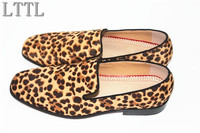 Autumn Summer Leopard Print Men Flats Handmade High Quality Loafers Men S Dress Shoes For Party
