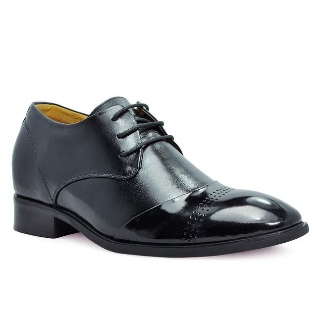 8121 - Europe dress leather Men grow taller Oxford shoes good for men increase 7CM on wedding party Sz 38-43 FREE SHIPPING