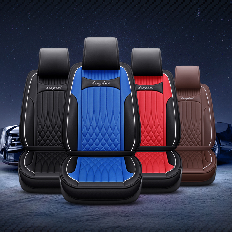 2019 Luxury PU Leather Auto Universal Car Seat Covers for toyota Corolla Camry Rav4 Auris Prius Yalis Avensis SUV accessories