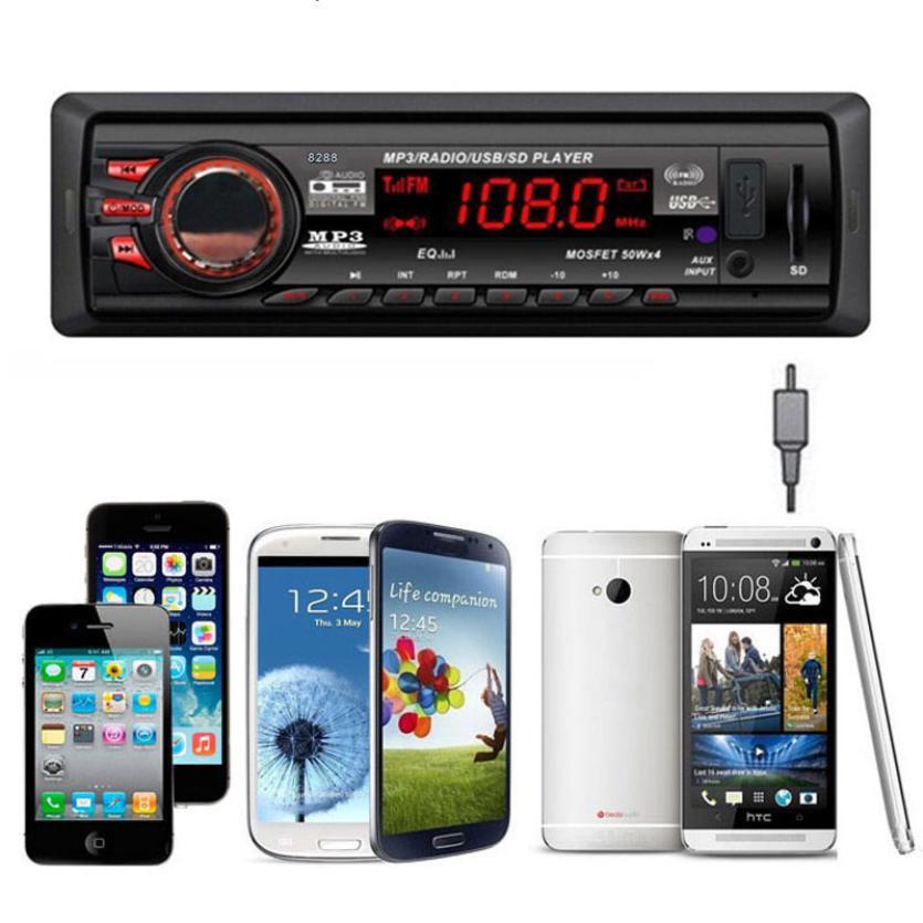 CARPRIE Stereo-Head-Unit Car-Audio Bluetooth In-Dash 1 Aux-July16 Aux/fm-Input