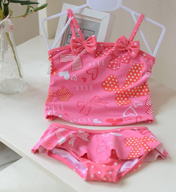 6215104bdf28e Vente au détail mignon enfants maillot de bain filles bowknot bikini  ensemble bébé fille maillots de bain petites filles maillots de bain pour  enfants ...
