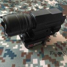 Tactical Red Dot Laser Sight LED Flashlight Combat Hunting Laser for Pistol GL 17 Guns Colt