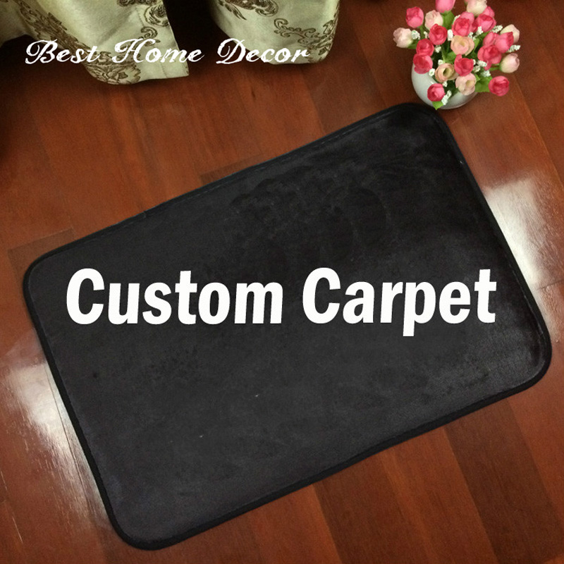 Custom Logo Brand Your Text Photo Carpet <font><b>Rug</b></font> Customized Flannel Indoor Outdoor Floor Mat Carpet Two Size Home Decorate