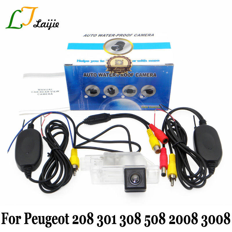 Wireless Car Rear View Camera For Peugeot 208 301 308 508 2008 3008 2012~Present / HD CCD Auto Reverse Parking Camera / NTSC PAL