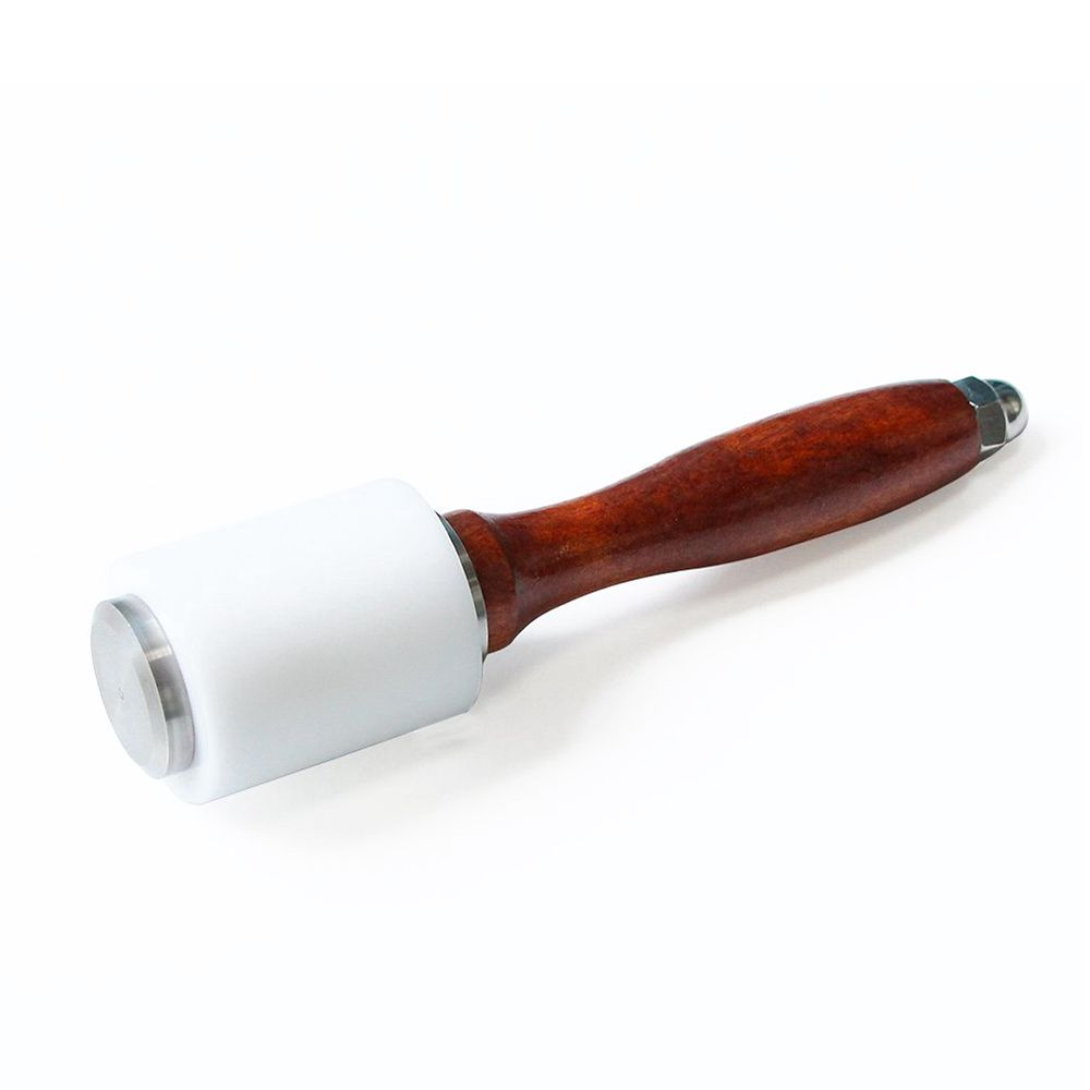 Hot Nylon Hammer Leather Carving Hammer Cowhide Sew Hammer Wooden Handle Leathercraft Carving Hammer DIY Woodworking Hand Tool new hot material leather cutting hammer with strengthen pe wooden craft stamping tool