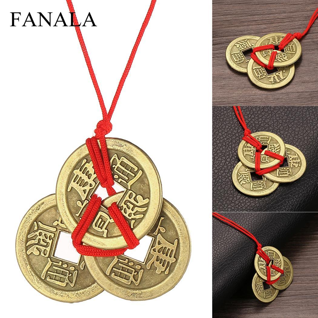 Necklaces Jewelry Collection Choker Amulet Money-Coin Brass Lucky for Erkek Kolye Ketting