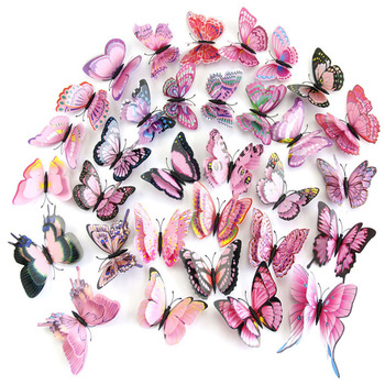 10 Colors 12pcs/lot Butterfly 3D