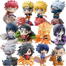 Anime 6pcs/set Cute Naruto Generation Uzumaki Naruto Uchiha Sasuke Hatake Kakashi Gashapon Tiny Action Figure Model Toys(China)