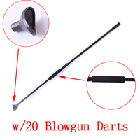Blacl M50 Blow Gun With Junction Tube And 20pcs Metal Needle Darts For Hunting Shoooting Blowgun