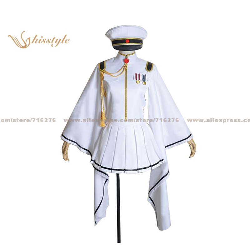 Kisstyle Fashion VOCALOID Hatsune Miku White Senbon Sakura Uniform COS Clothing Cosplay Costume,Customized Accepted