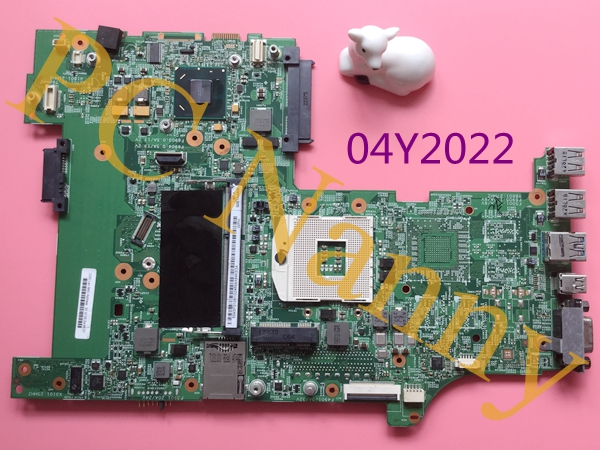 04Y2022 For Lenovo ThinkPad L530 Laptop System Motherboard DDR3 HM76 2xSO-DIMM Intel GMA HD Graphics