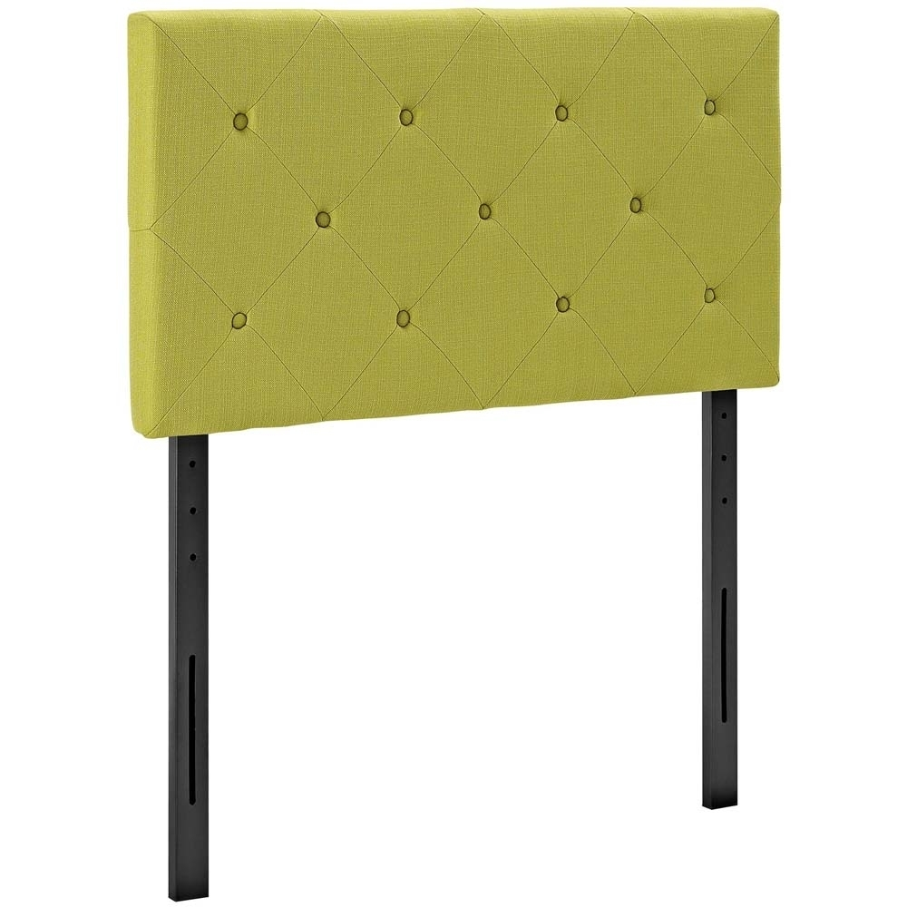 Wheatgrass Terisa Twin Fabric Headboard
