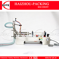 Semi Automatic Liquid Filler Stainless Steel Water Filler Horizontal Single Head Liquid Filling Machine Small Packer