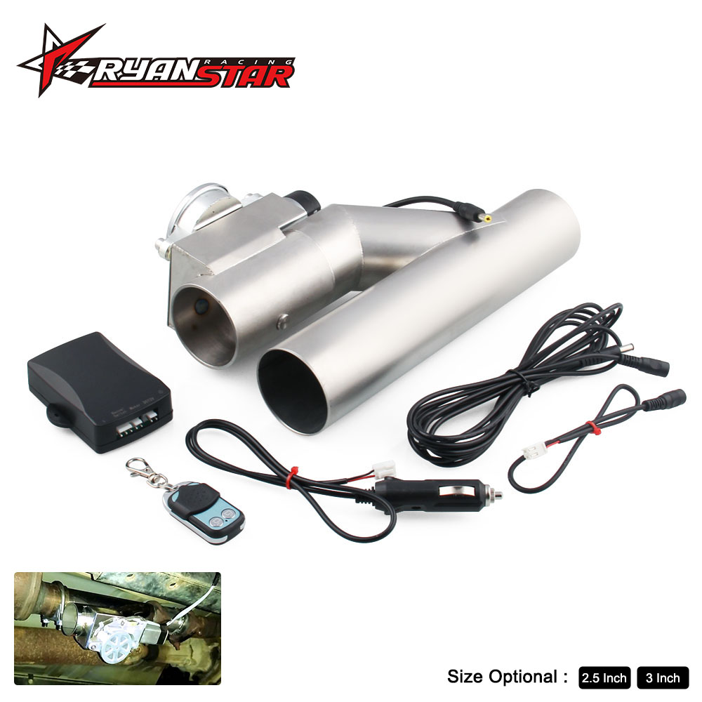 Universal car new style 2 5 3 Dump Valve Electric Exhaust Cutout with Wireless Remote TP007