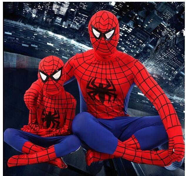 Spider-Man adult Kids Costumes Spiderman Peter Parke Kostuum Spider Rood blauw Zwart Man Pak Volwassenen Kinderen Zenta Cosplay
